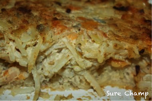 Green Chili &Cheese Hash Brown Casserole