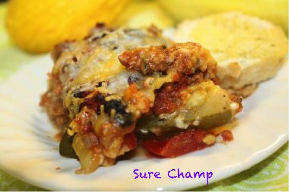 Sure Champ Pork & Vegetable Lasagna