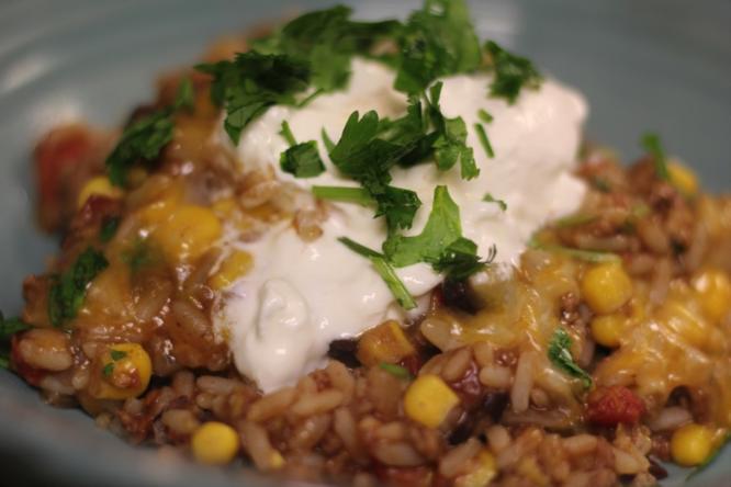 southwestern taco bowl