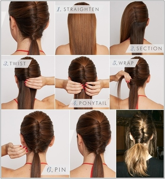 15 cute easy ponytails sure champ chic diy chignon ponytail solutioingenieria Choice Image