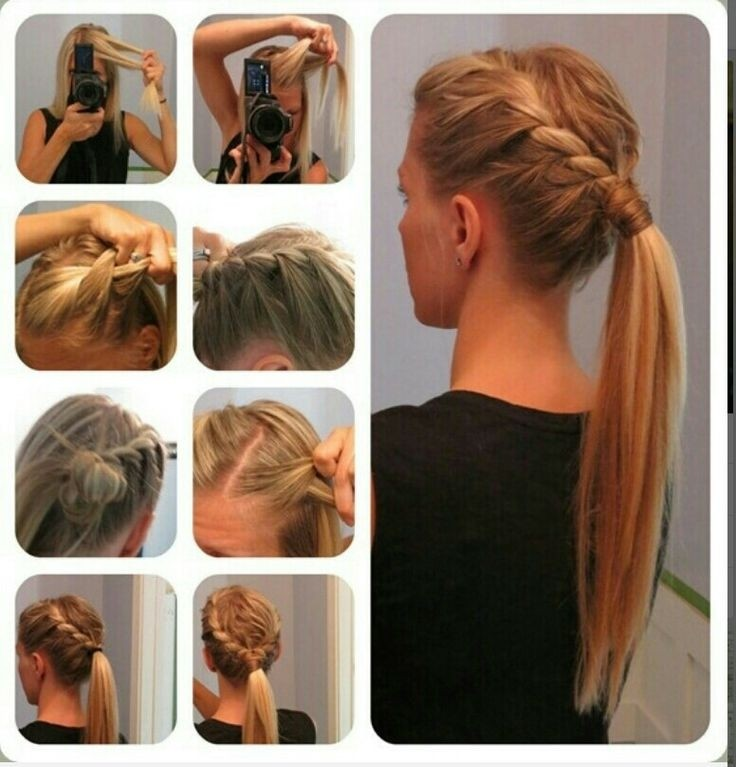 15 cute easy ponytails sure champ double french braid ponytail solutioingenieria Images