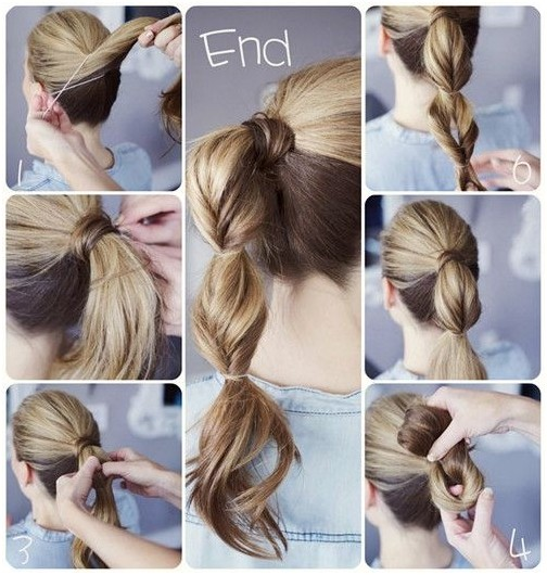 15 cute easy ponytails sure champ twist and cross the pony and then fix with clear elastic band repeat the same step until the entire ponytail is styled solutioingenieria Images