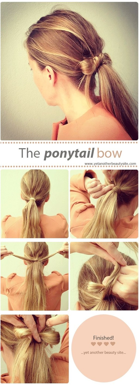 15 cute easy ponytails sure champ ponytail bow solutioingenieria