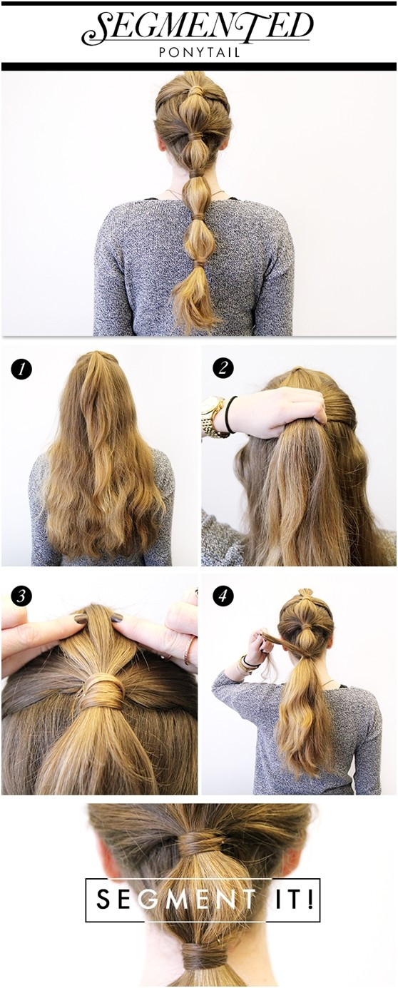 15 cute easy ponytails sure champ segmented ponytail solutioingenieria