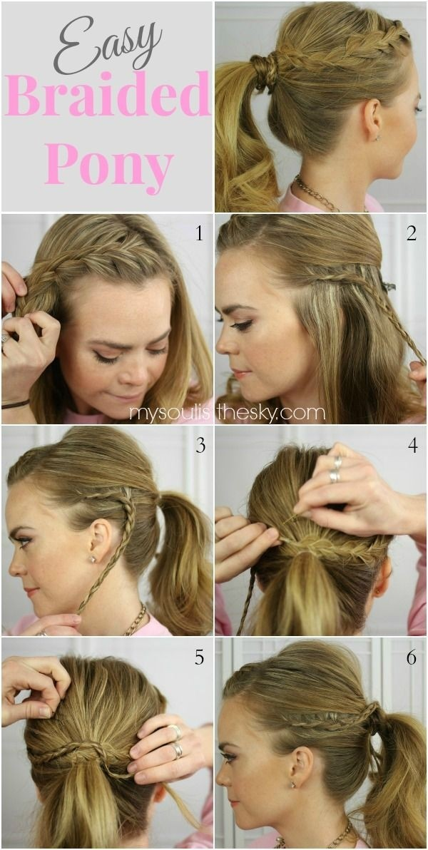 15 cute easy ponytails sure champ two braid pony solutioingenieria Choice Image