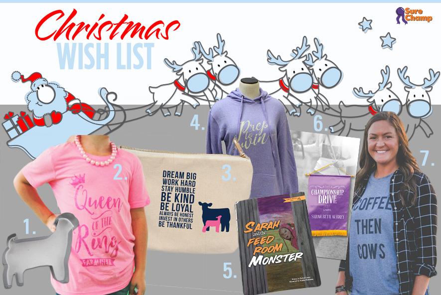 Sure Champ Stock Show Girl Christmas Wish List