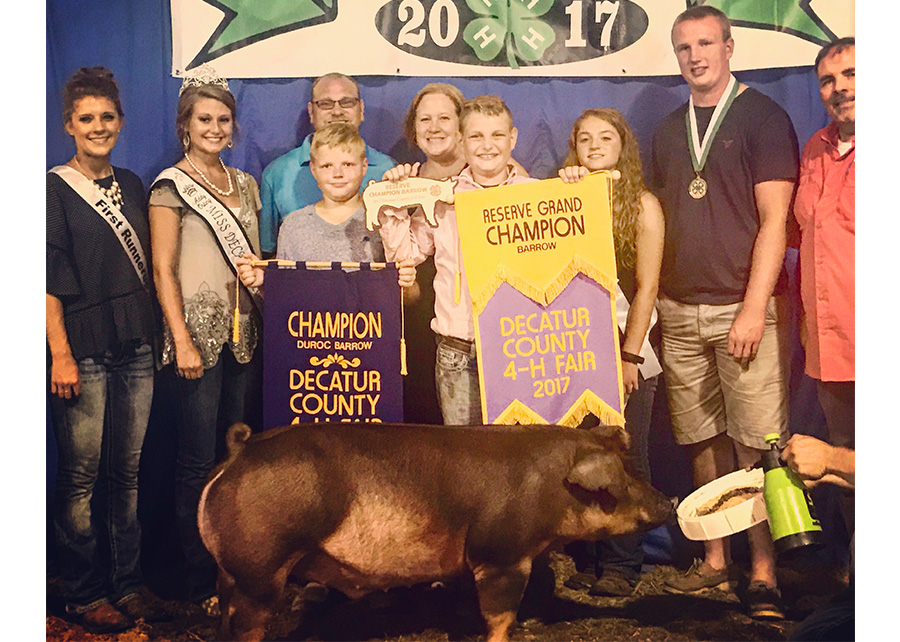 Reserve Grand Champion2017 Decatur County 4-H FairBraden AmRhein