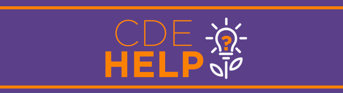 CDE Help